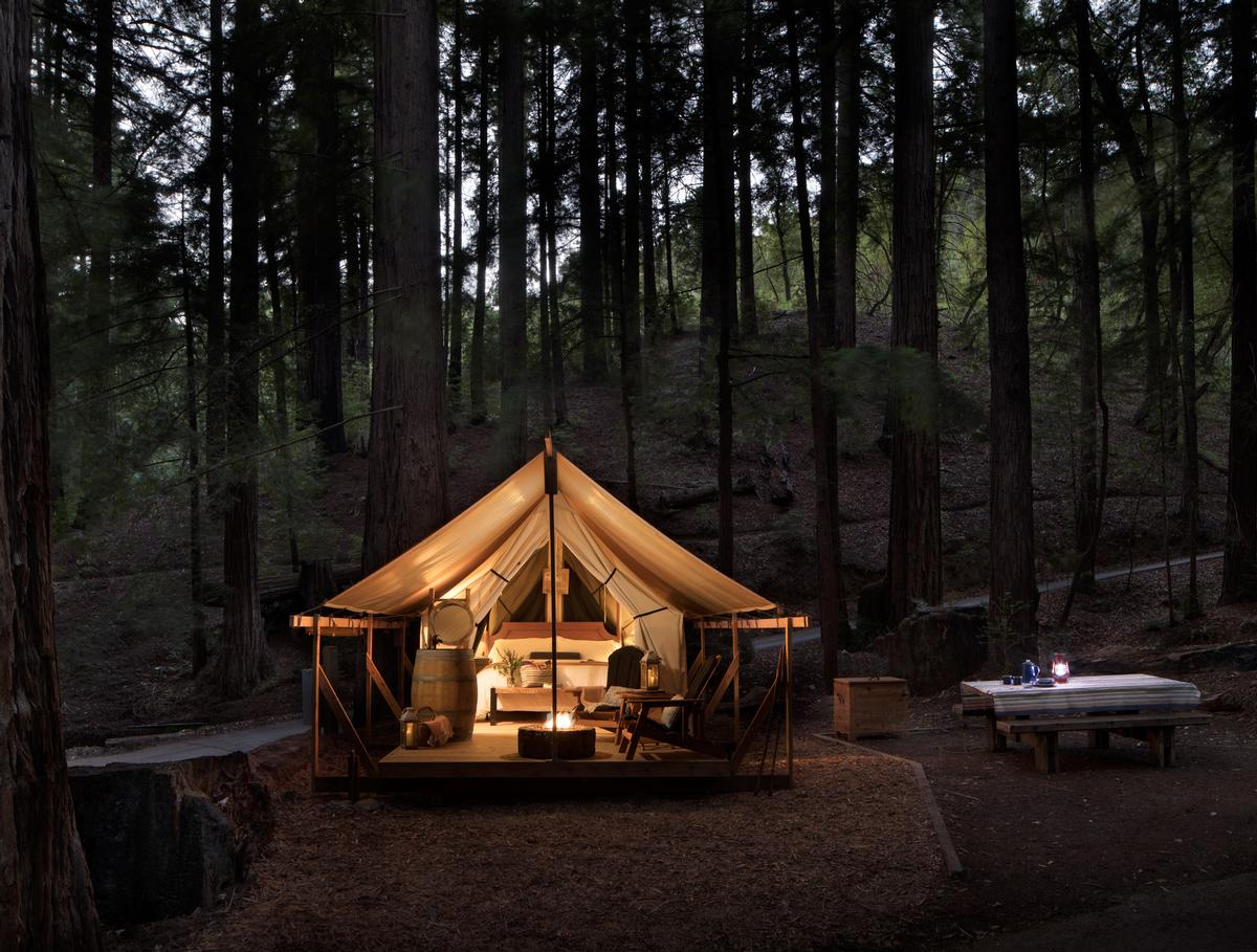 A luxury camping experience – Redwood Canyon Glamp sites – is being developed in the resort's 20 acres of redwood forest