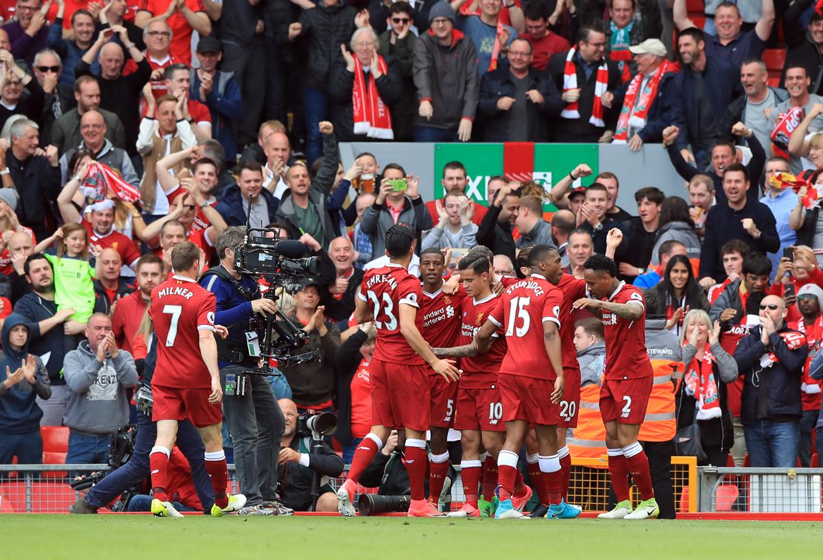 The atmosphere at stadiums like Anfield contributed to Liverpool being names as the 'Greatest Sporting City' / Peter Byrne/PA Wire/PA Images