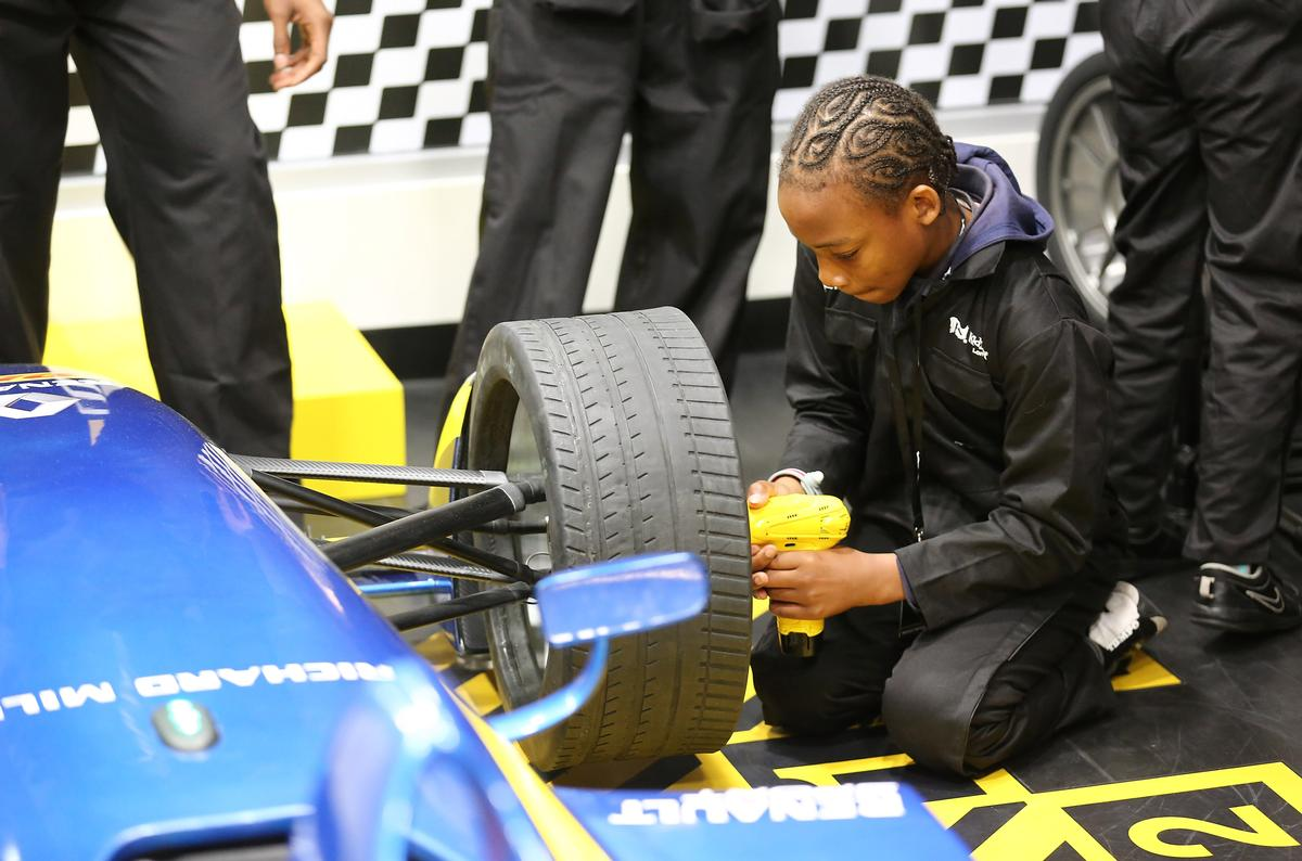 The Renault pit lane challenge at the launch of KidZania London