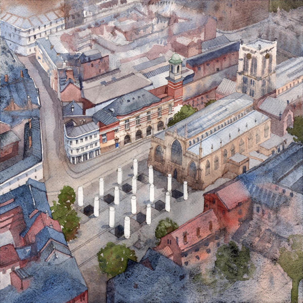 Pezo von Ellrichshausen and Felice Varini design Hull public pavilion for UK City of Culture 2017