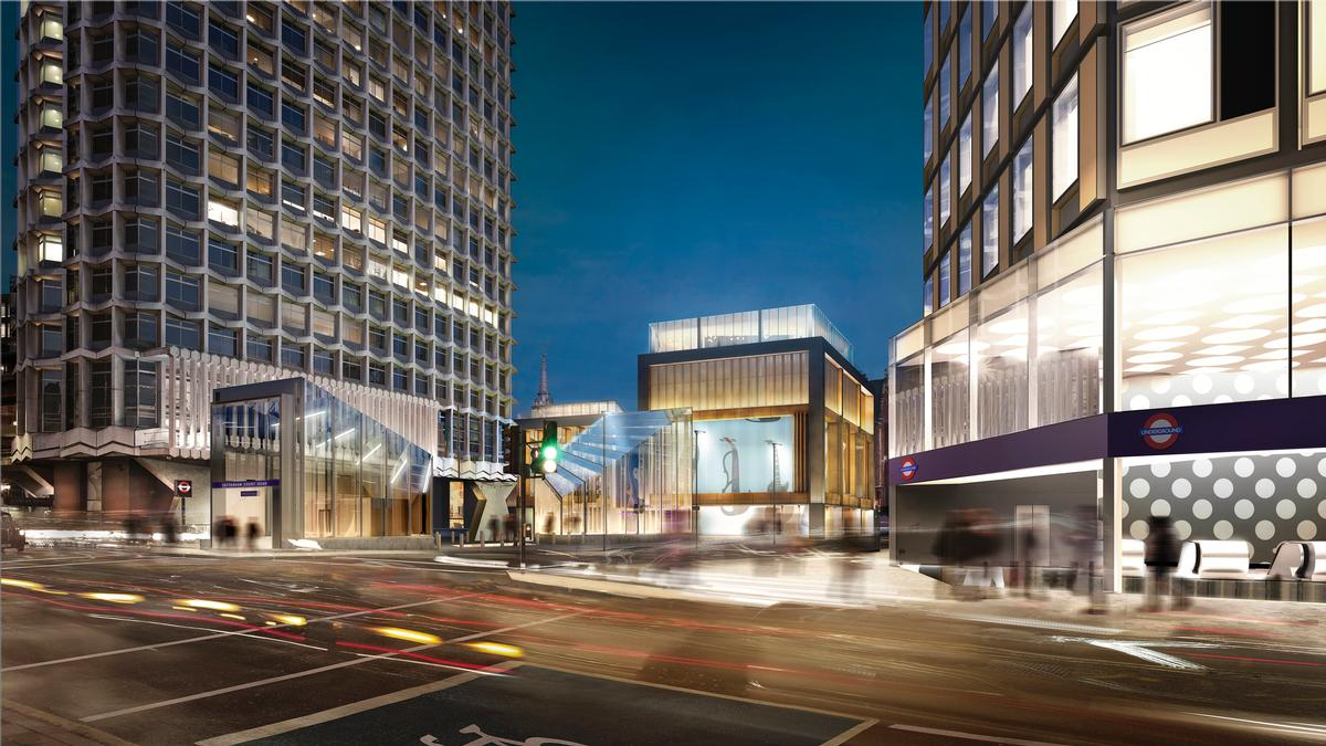 The overall St GIles Circus scheme will be located next to a station for Crossrail – the forthcoming train line running between London and the south east / Orms