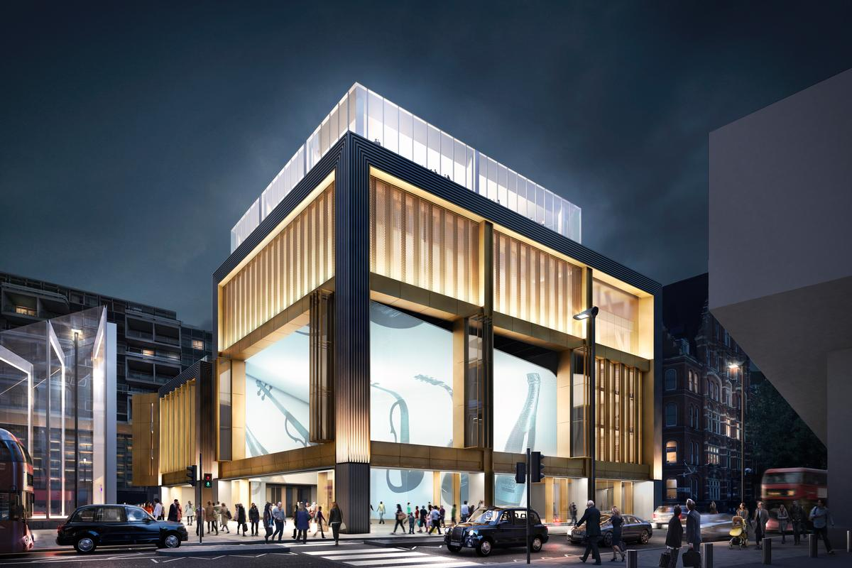 Construction is underway on two new live music venues and a leisure-filled urban gallery in central London / Orms