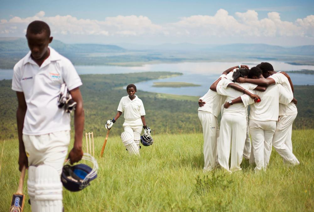 The fundraising has used staged imagery to highlight the players' current lack of facilities suitable for playing cricket