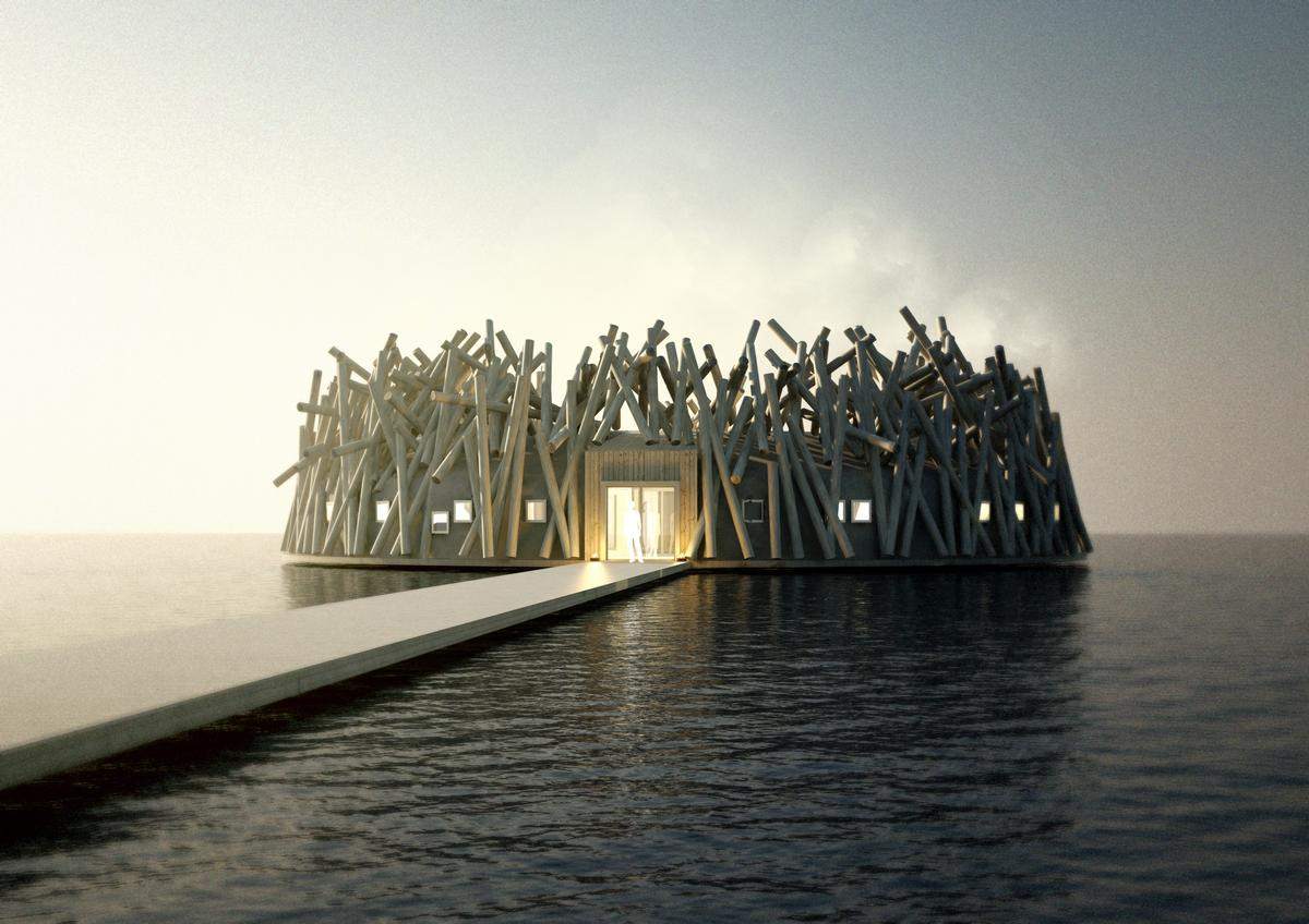 Arctic Bath hotel and spa will float on a river in Swedish Lapland