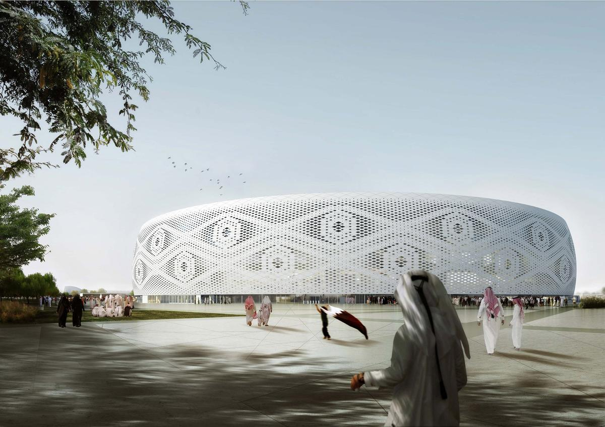 Design unveiled for qatar 2022 world cup stadium inspired by the main contractor is a joint venture between qatari company al jaber engineering and turkeys malvernweather Image collections