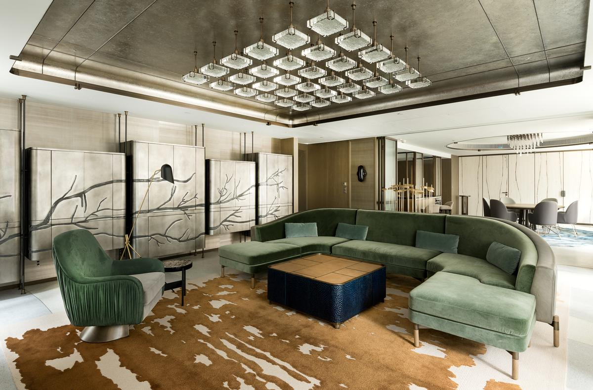 The 2 250sq ft 209 000sq m entertainment suite has been conceived as a welcome respite from hong Kitchen design companies hong kong