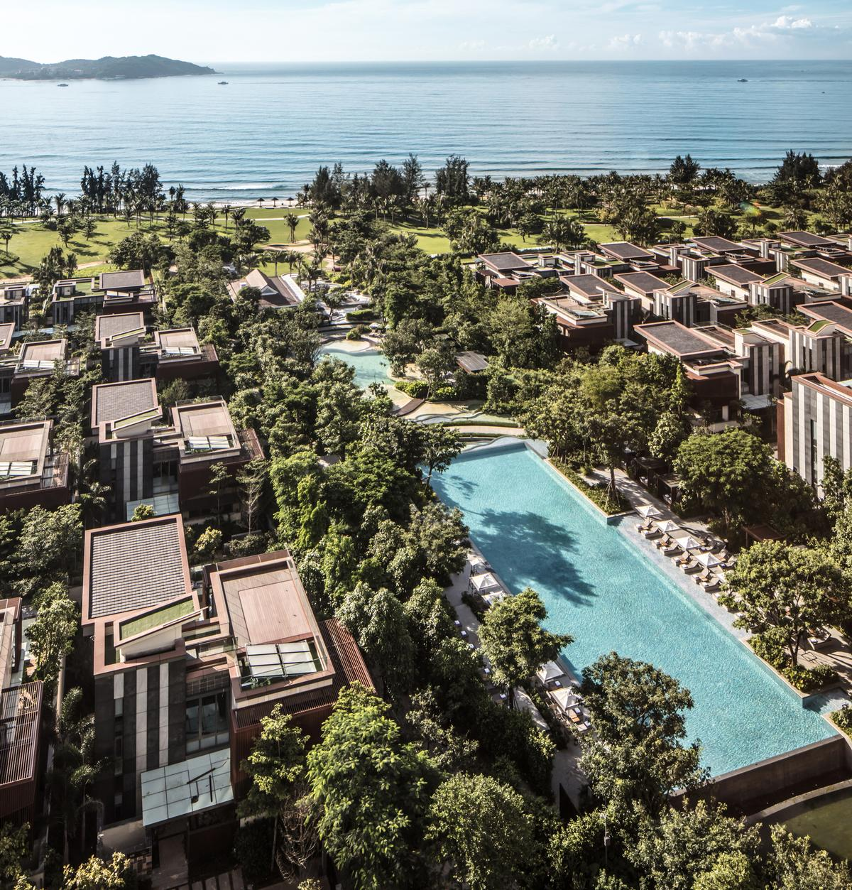 Rosewood Hotels & Resorts' first resort in China has officially opened on Hainan Bay, set within 40 acres of landscaped gardens / Rosewood Hotels and Resorts