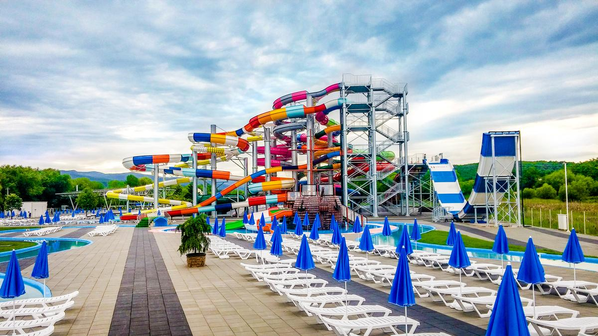 The waterpark opened its doors in June and offers nine slides, as well as kids slides and wet play areas