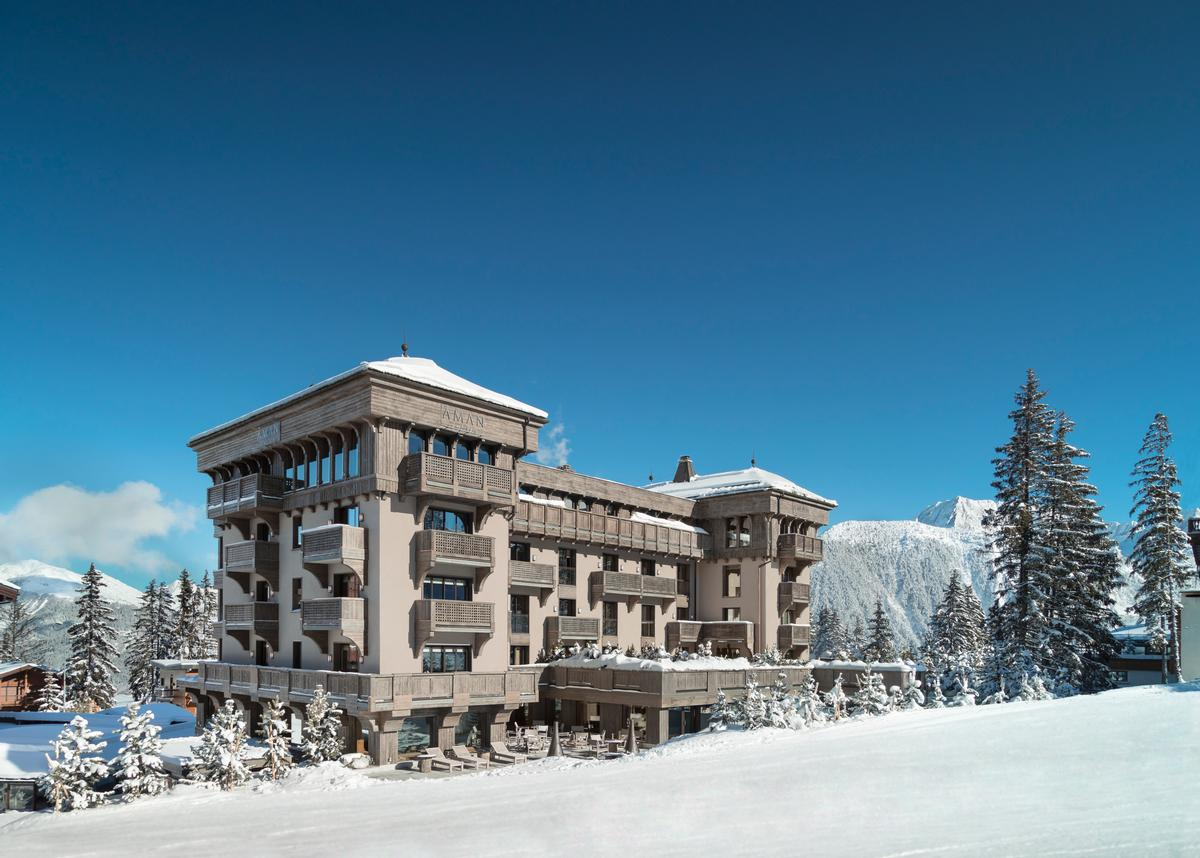 Global hotel operator, Aman, will reopen Aman Le Mélézin in Courchevel this December, following the construction of a new spa over the summer. / Aman resorts Twitter