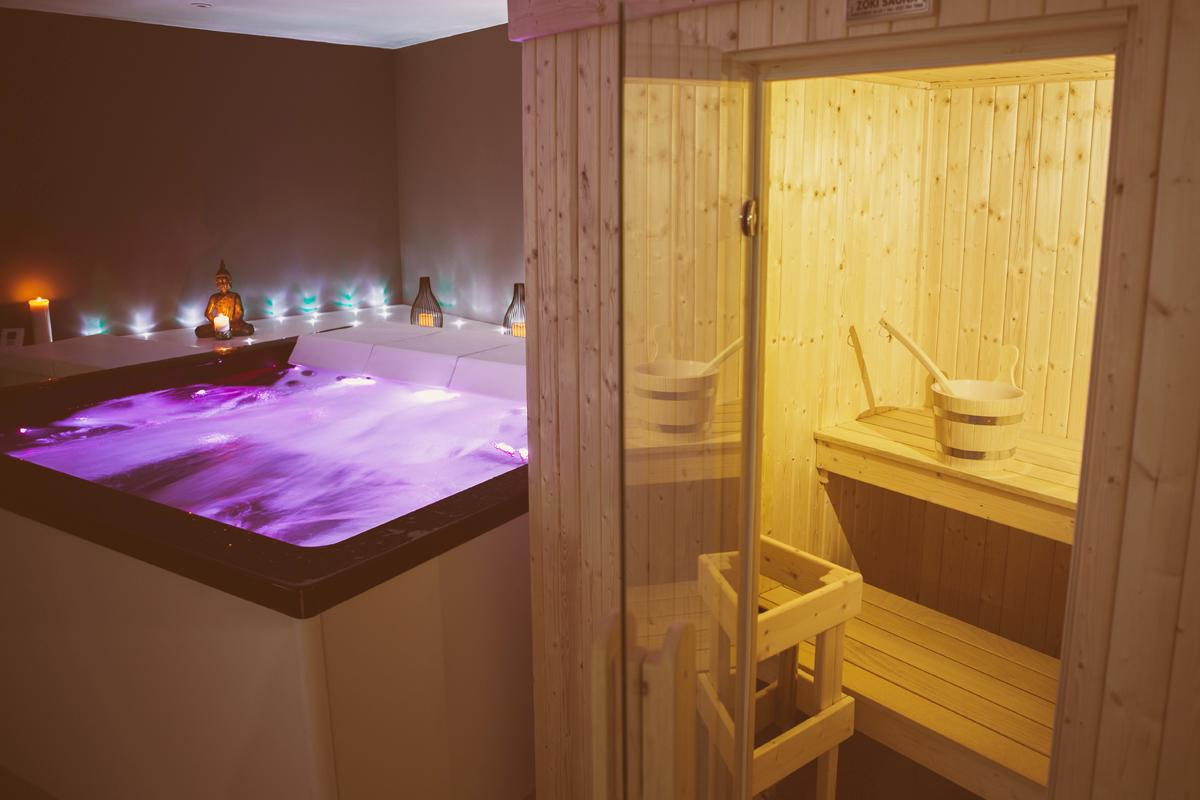 The whirlpool was supplied by Spaworks and the sauna is from Zoki / Beauty Island Sanctuary