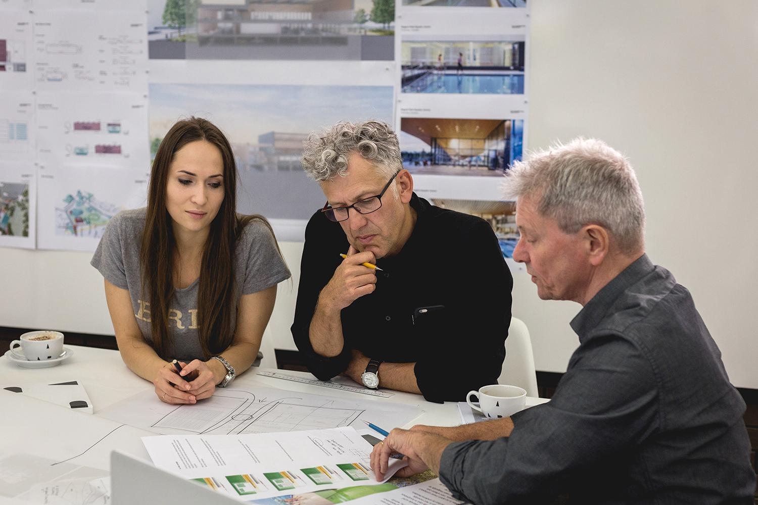 The architects have been given challenging sustainability targets, including minimising the building's carbon footprint