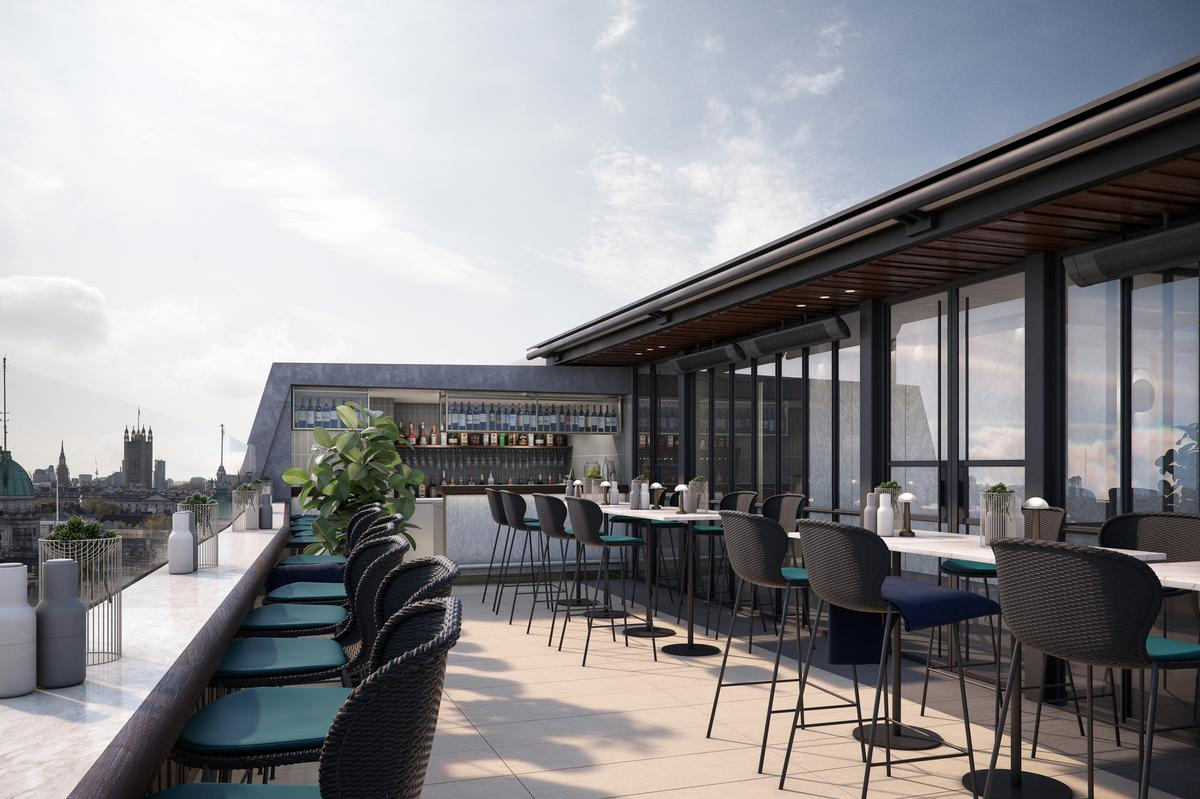 A panoramic rooftop bar will open in October / Hilton