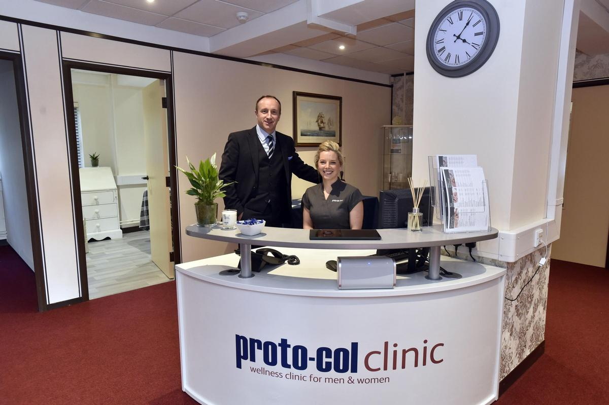 The clinic offers a range of treatments including facials, massage and beauty treatments, all of which include Proto-Col collagen products
