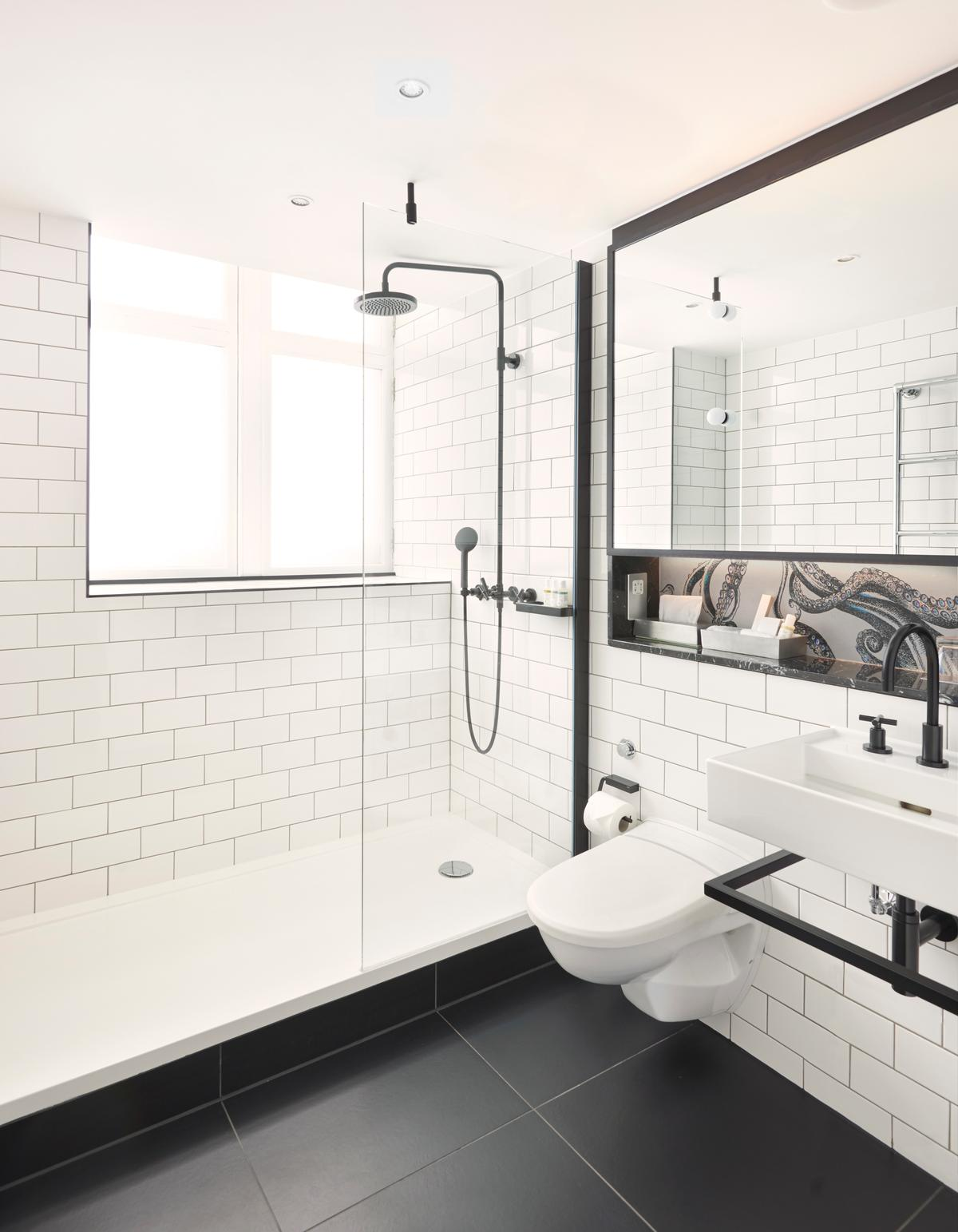 The Bathrooms Preserve Metro Tiles From Original Design Complemented By A Number Of