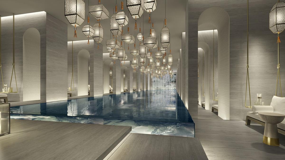 Yabu Pushelberg have designed the hotel's two-storey spa / Four Seasons