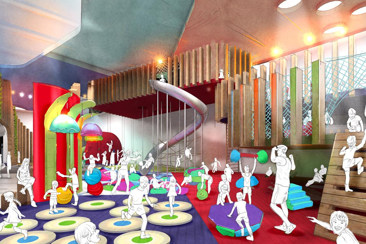 Artist's impression of the children's area at The Mirai