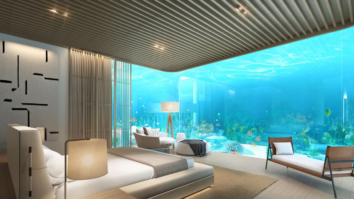 Underwater guestrooms will feature at the resort