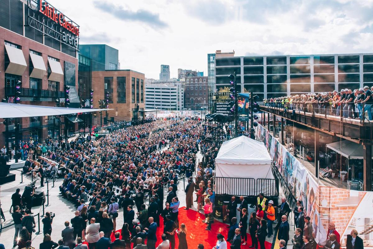 Thousands flocked to a preview event to take a first look at the new arena / The District Detroit