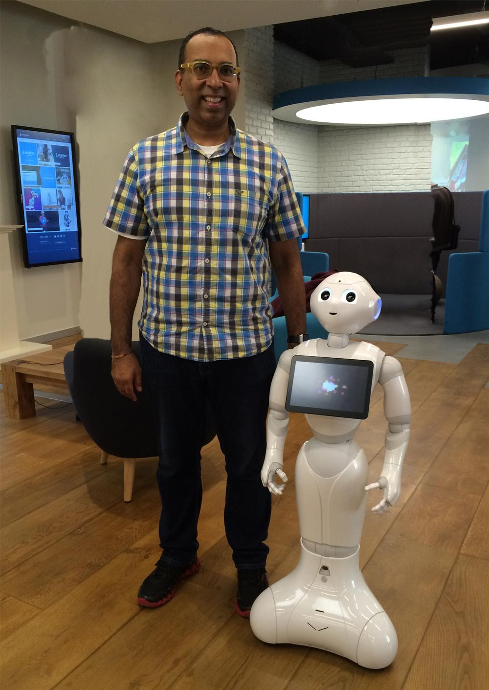 Juneja says companion robots will hit the market this year, and may ultimately even teach exercise movements