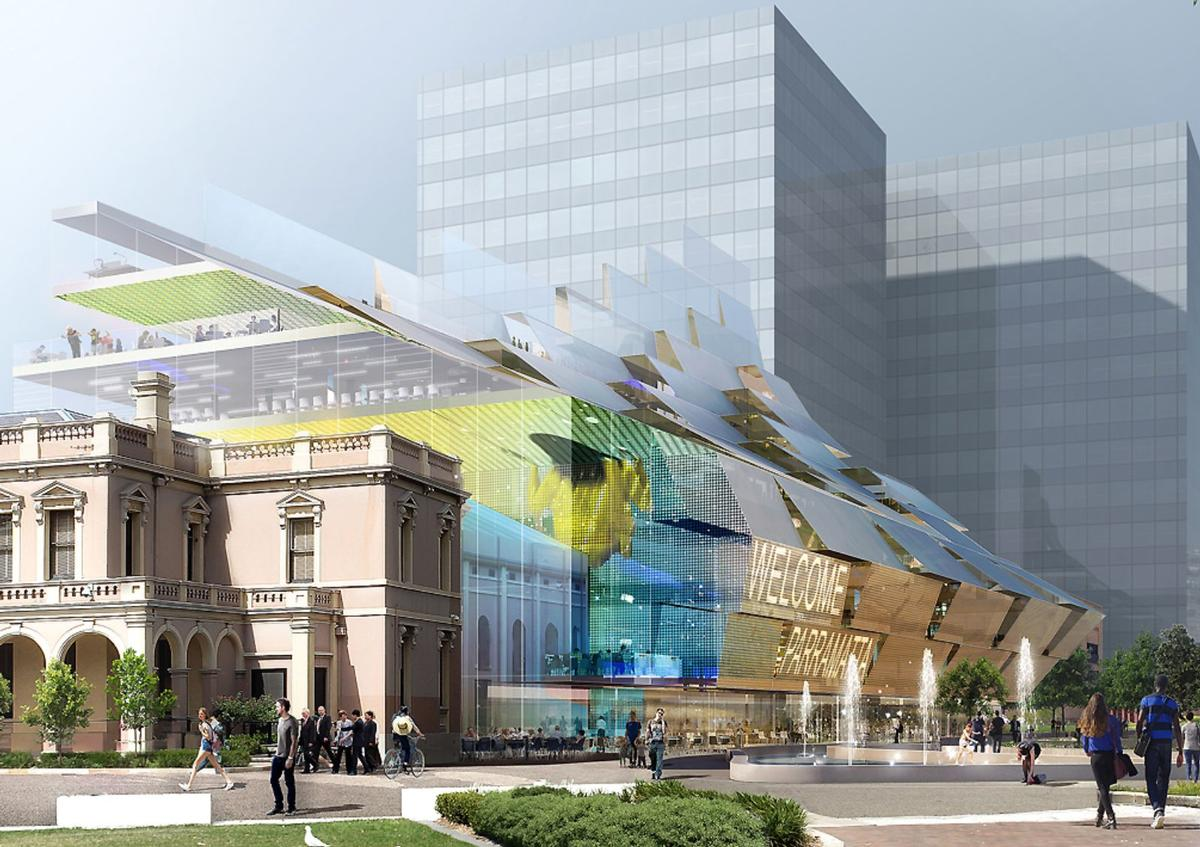 Gautrand's forthcoming civic and cultural centre in Parramatta, Australia / Courtesy of Manuelle Gautrand Architecture
