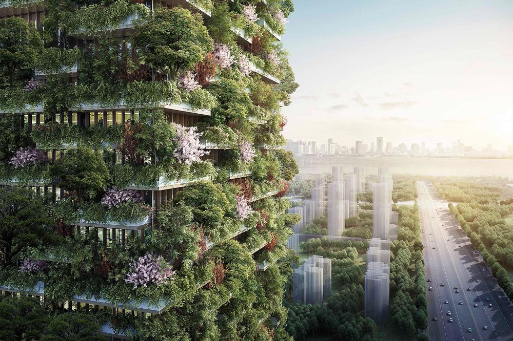 Some 1,100 trees of  23 different species will line the building façades / Stefano Boeri Architetti