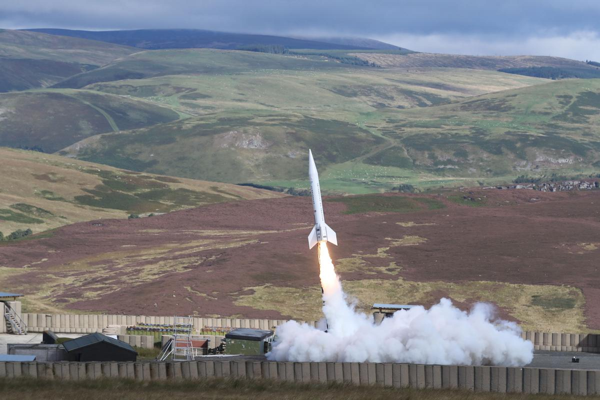 The rocket launch a significant step towards the development of rockets for use in space tourism in the future / Owen Humphreys/PA Wire/PA Images
