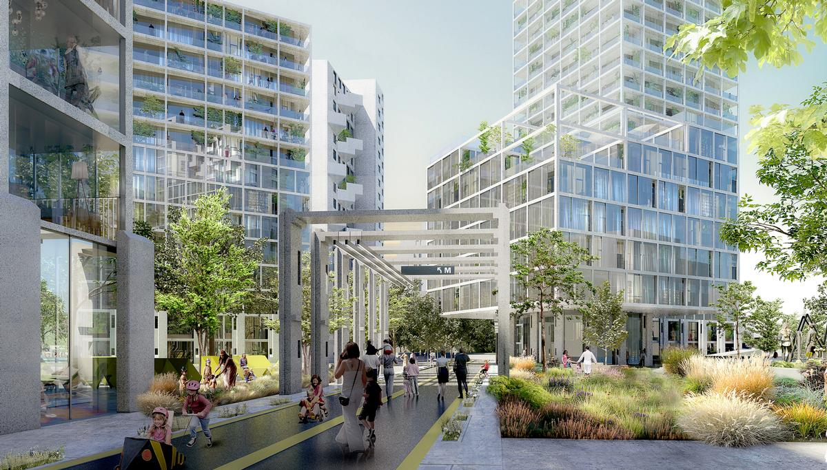 OMA are masterplanning the 7.5 ha site, and will also design a significant portion of the 135,000sq m (1.4 million sq ft) pockets of development / Robota, courtesy OMA