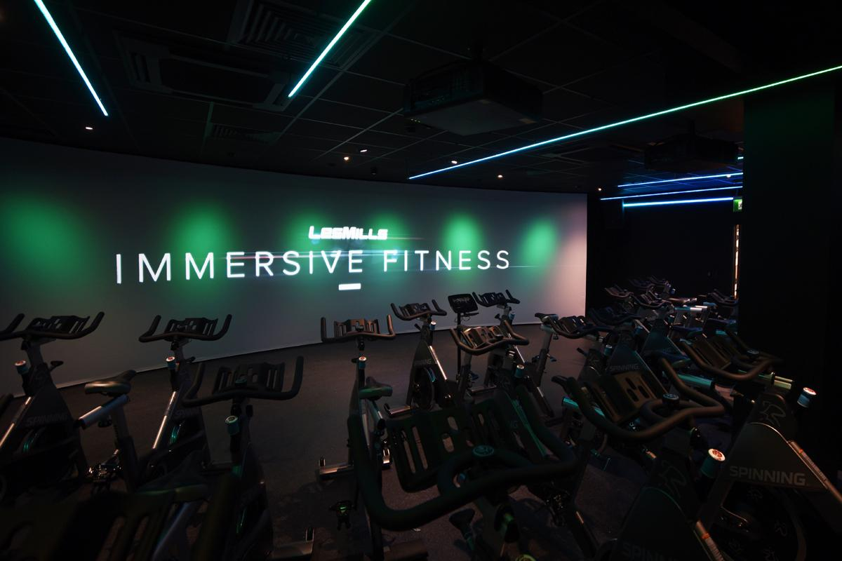 Les Mills UK's immersive cycling experience, the Trip, features in Salt Ayre Sports Centre