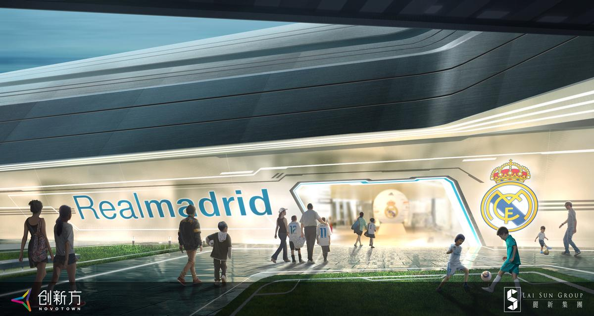 The world's first Real Madrid Interactive Football Experience Centre will be completed in 2021 at Novotown phase two in Hengqin / iP2 Entertainment