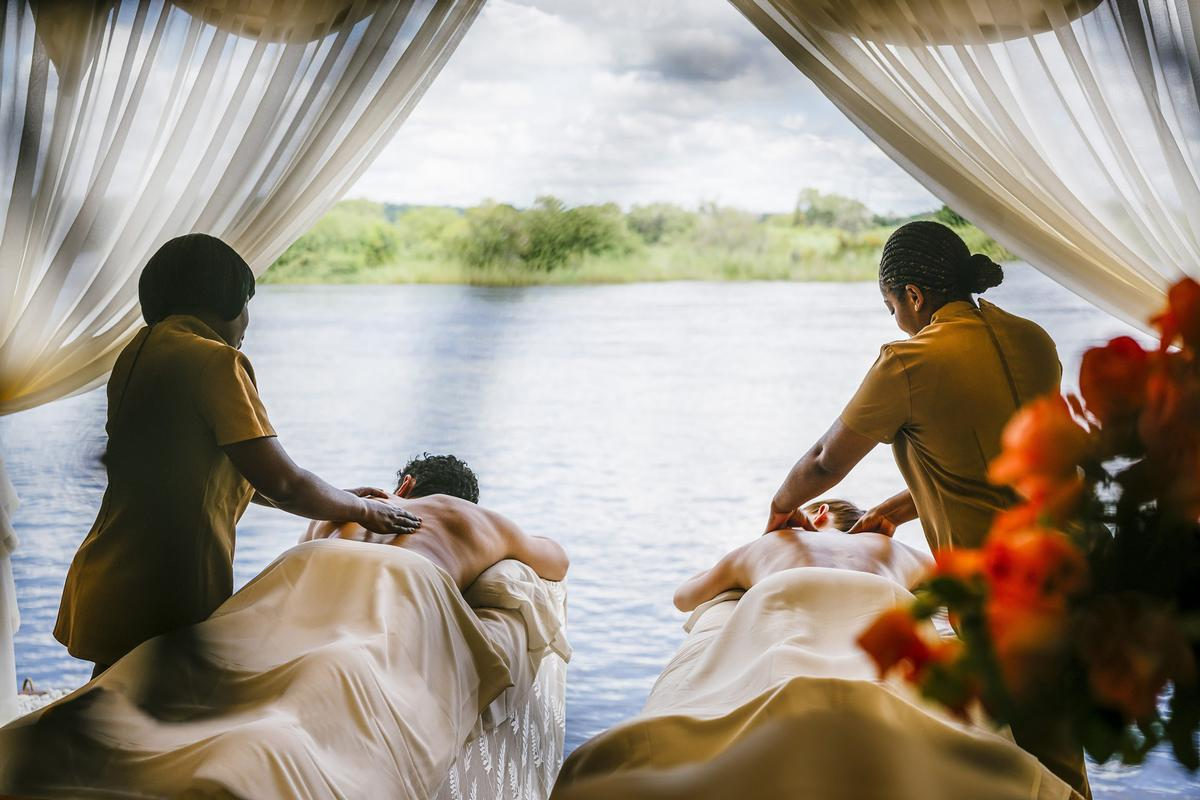The spa will offer guests the opportunity to enjoy spa treatments next to the Zambezi river