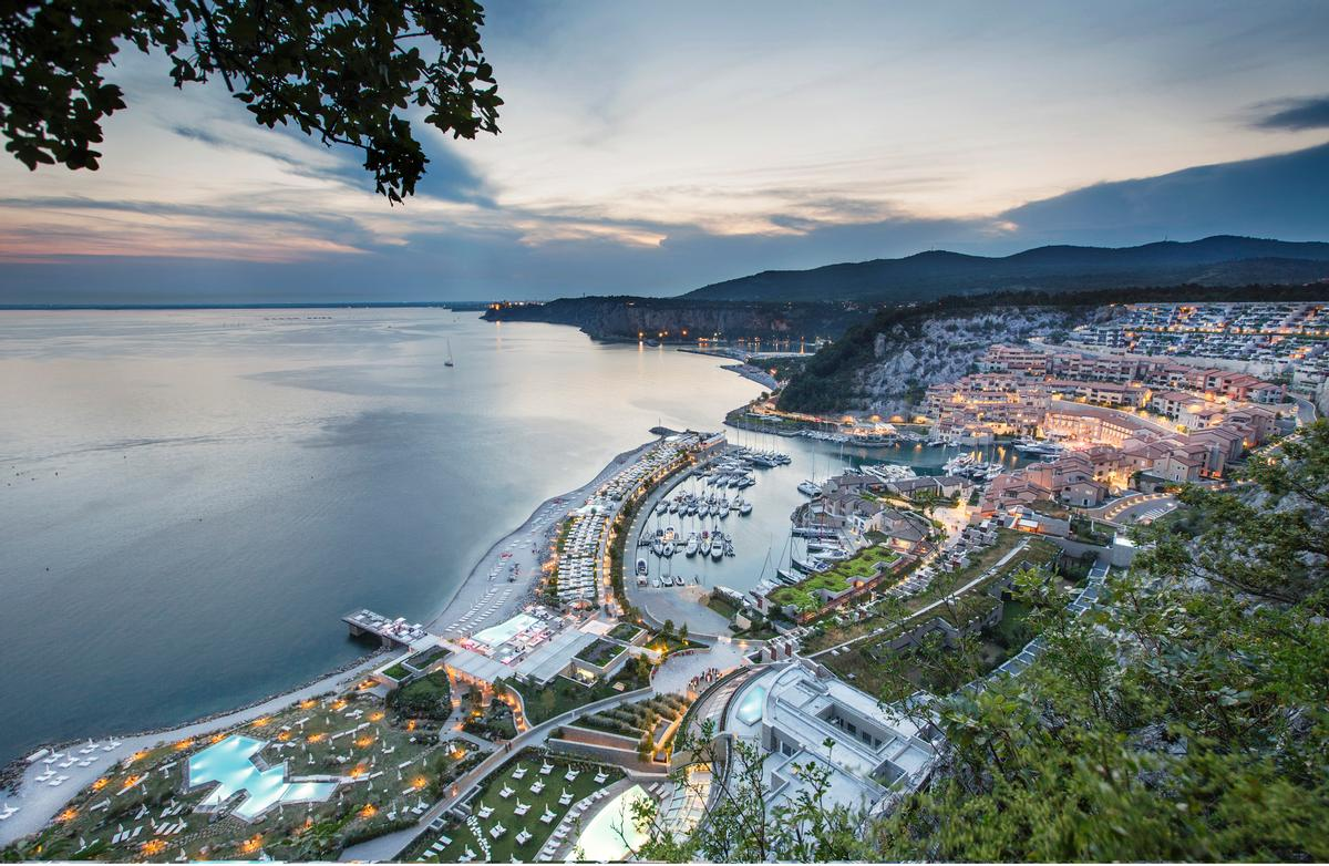 "Portopiccolo has been built as an eco-sustainable, ""zero-impact"" resort and is located at the heart of the Gulf of Trieste"