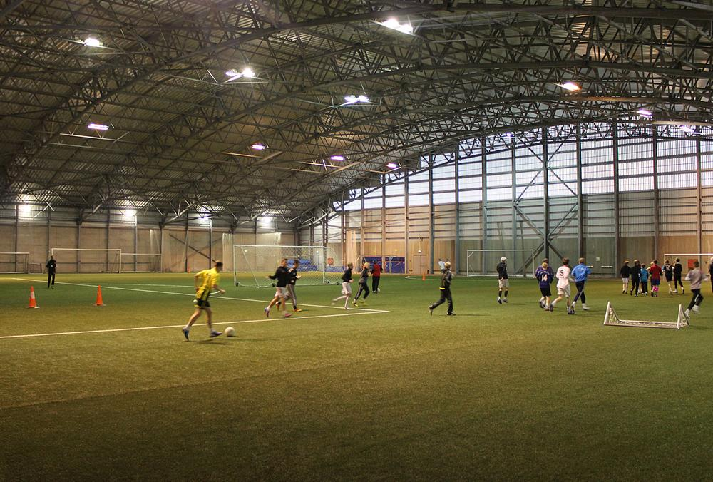 The indoor hall at Vestmannaeyjum provides an excellent training ground for up and coming players