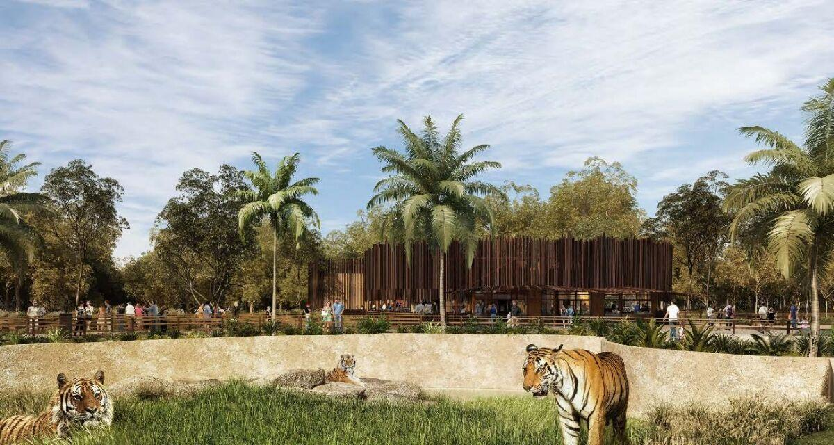 The zoo's design will offer a cage-free approach for its enclosures