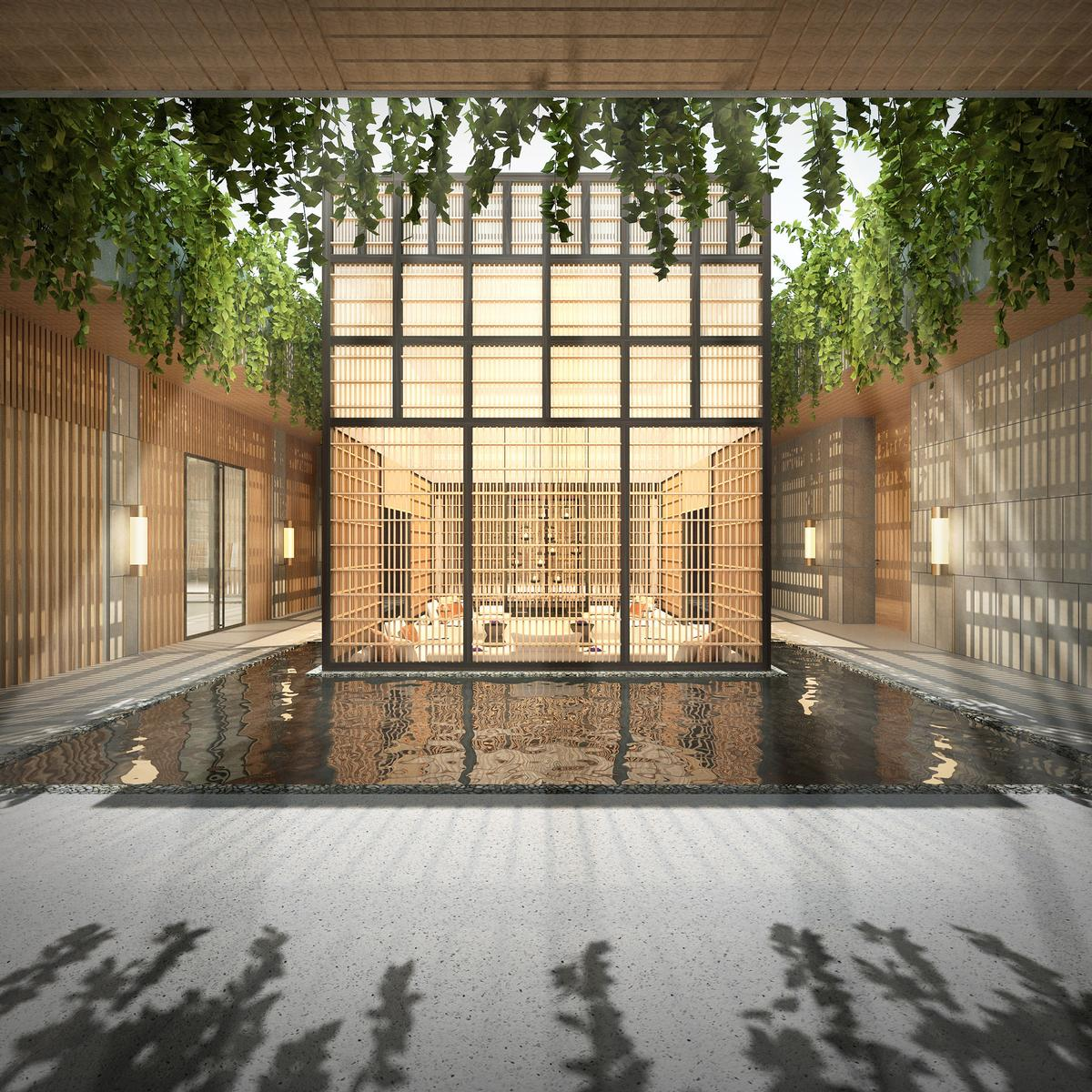 Inspired by Balinese architecture and space planning, the spa features an inner 'floating courtyard' where guests will be able to reboot and recover pre- and post-treatment