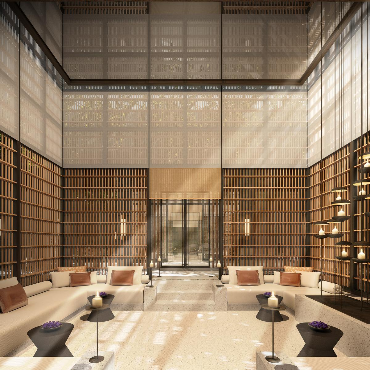 Lake sought to create a dynamic, non-conventional, 21st century spa