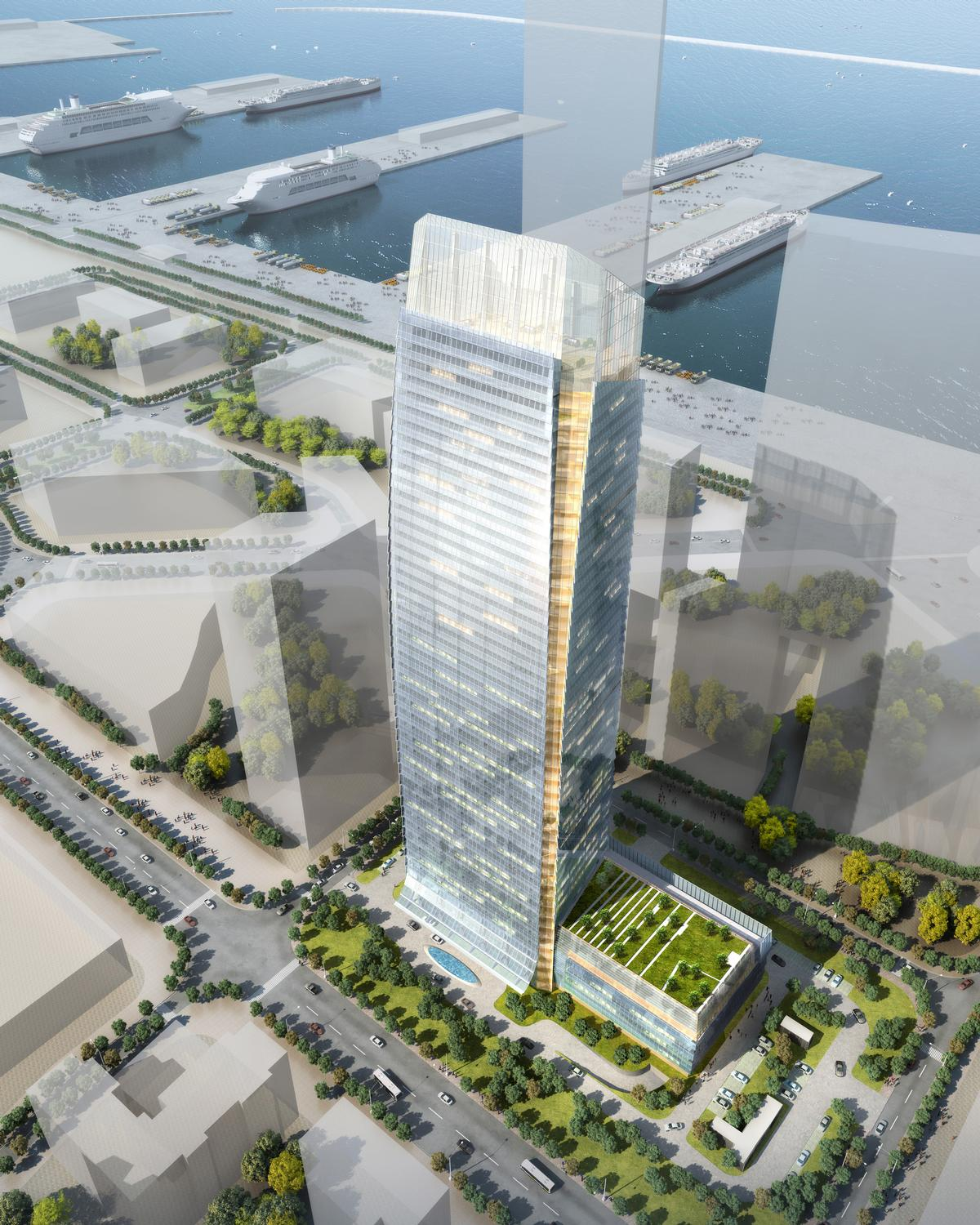 Luneng Group has appointed architects NBBJ Shanghai and designers Hirsch Bedner Associates (HBA) to create the Four Seasons Hotel Dalian / Four Seasons