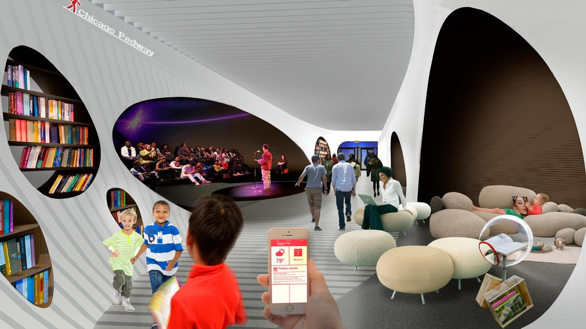 Additions such as performance spaces and underground libraries are included in the plans / ELPC