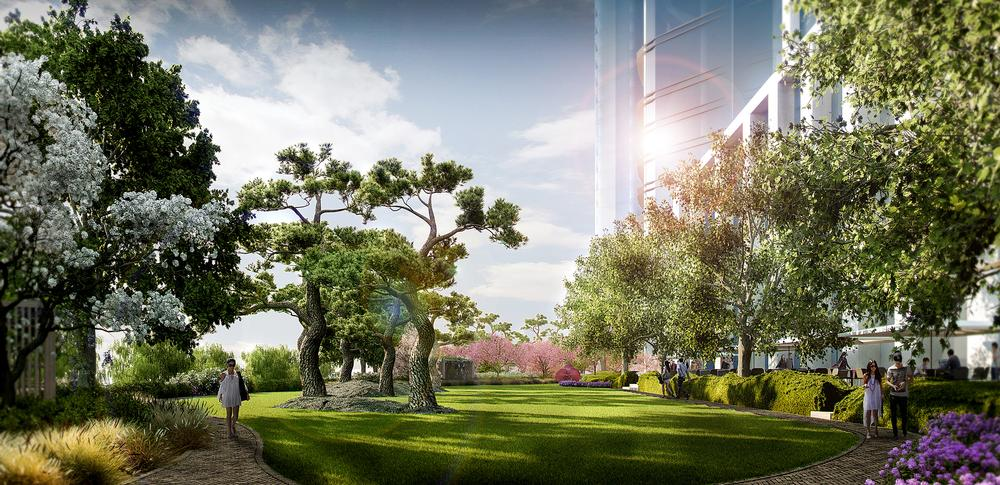 Enea is responsible for the landscaping at the Genesis resort in Beijing. A Bulgari Hotel has just opened there