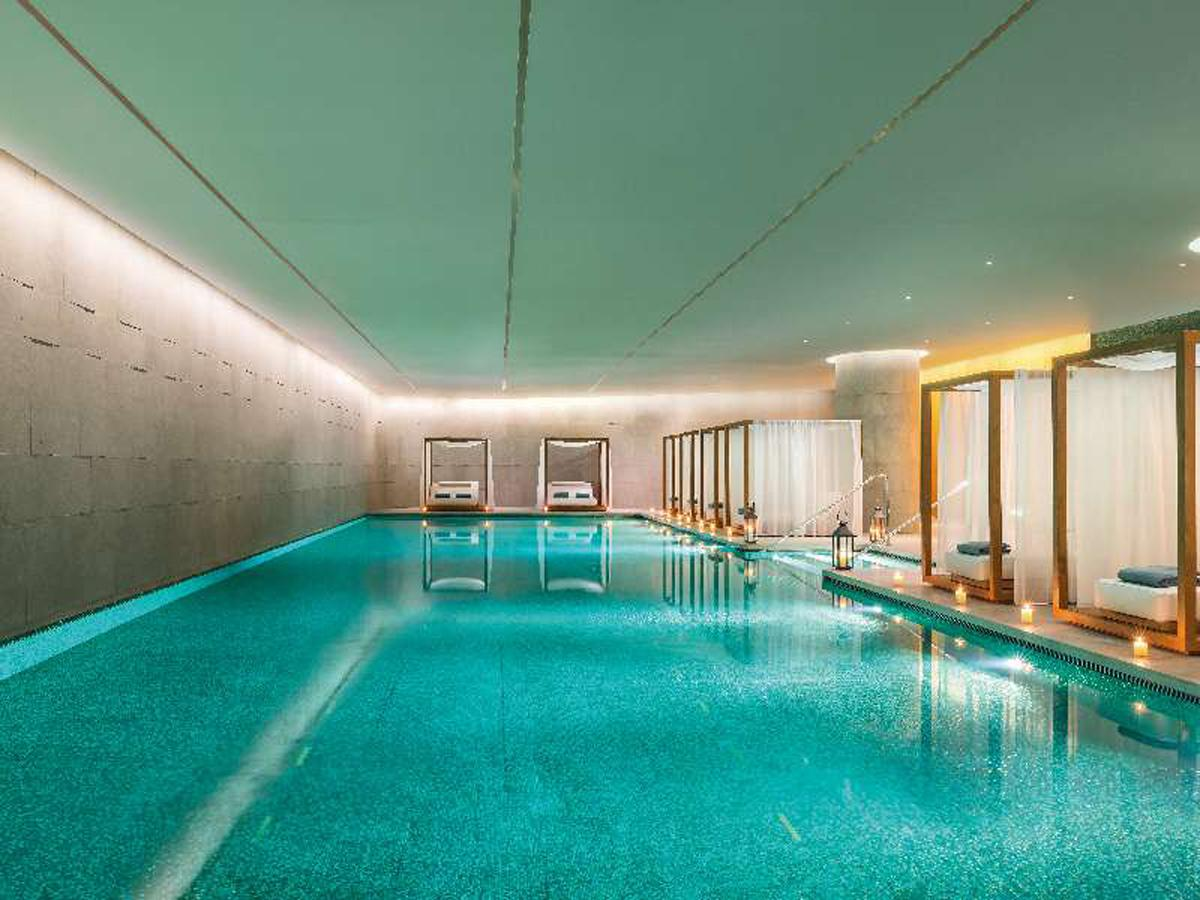 The 1,500sq m (16,146sq ft) spa includes a 25m swimming pool, a vitality pool, relaxation lounges, eight treatment rooms and two treatment suites