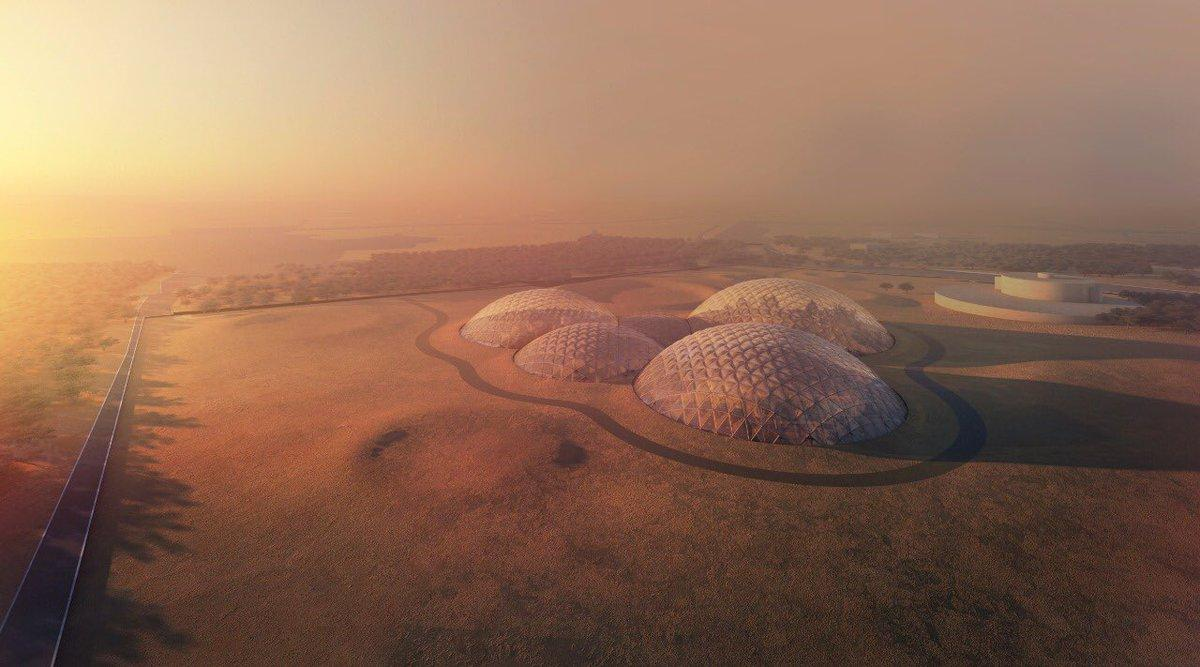 Located in the Dubai desert, Mars Science City will cover 1.9 million sq ft / Government of Dubai