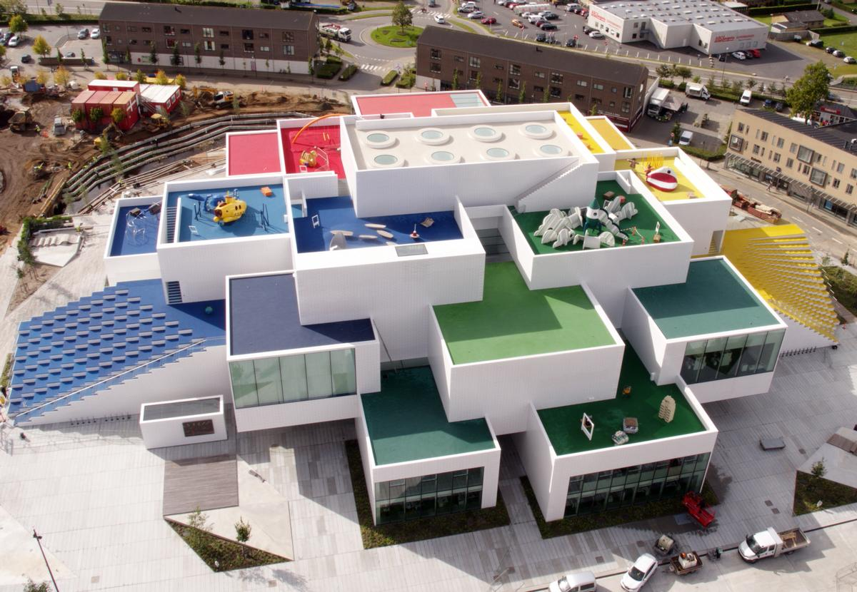 Bjarke Ingels Group have created the 12,000sq m (129,000sq ft) Lego House as a vibrant three-dimensional village of interlocking buildings and spaces / Lego Group