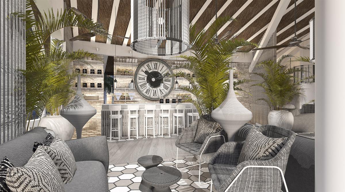 Hoppen and Adam aimed to create comfortable tropical living through contemporary spaces