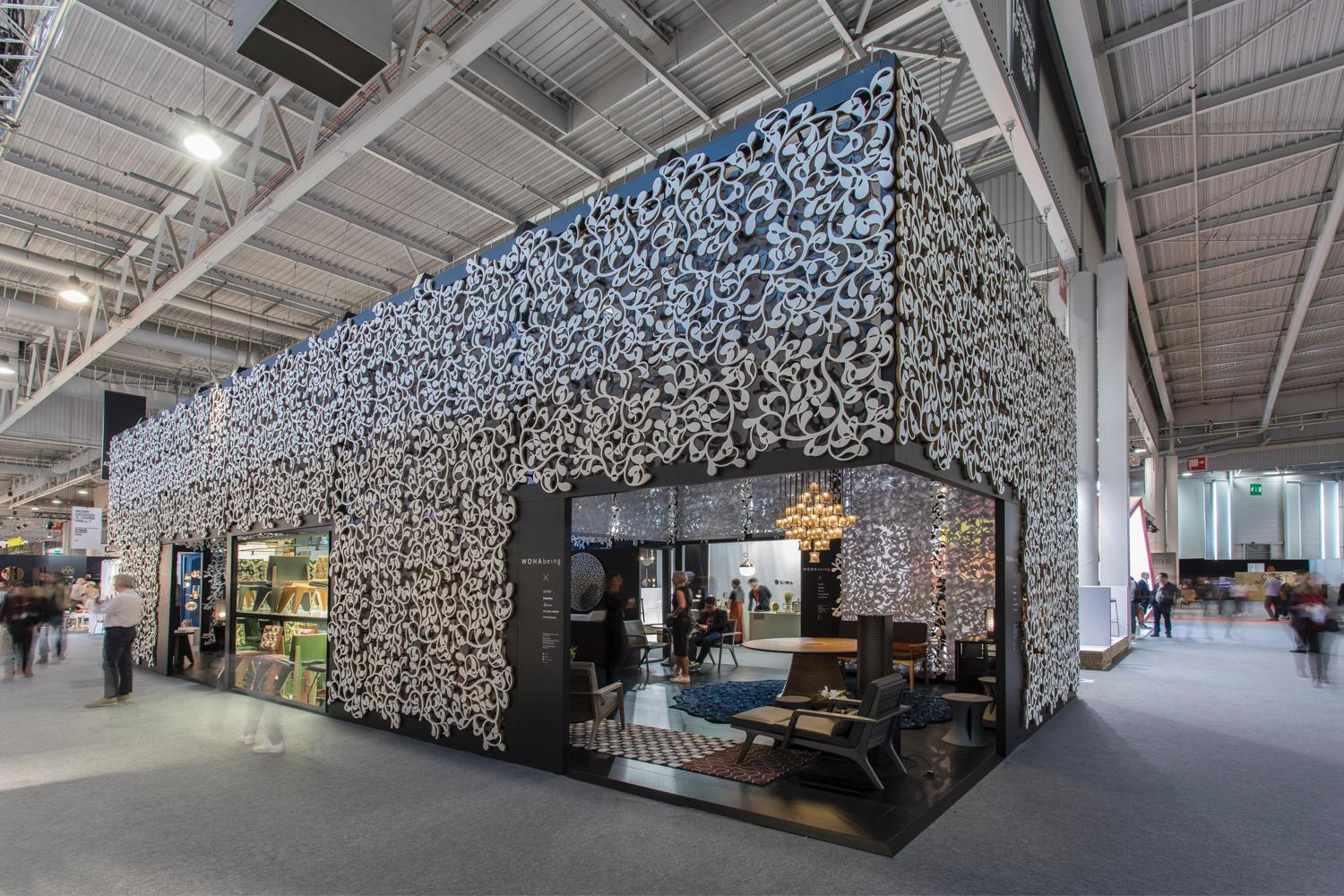 WOHAbeing debuted at Maison&Objet in September in a specially designed booth featuring a beanstalk motif / Marek Swoboda