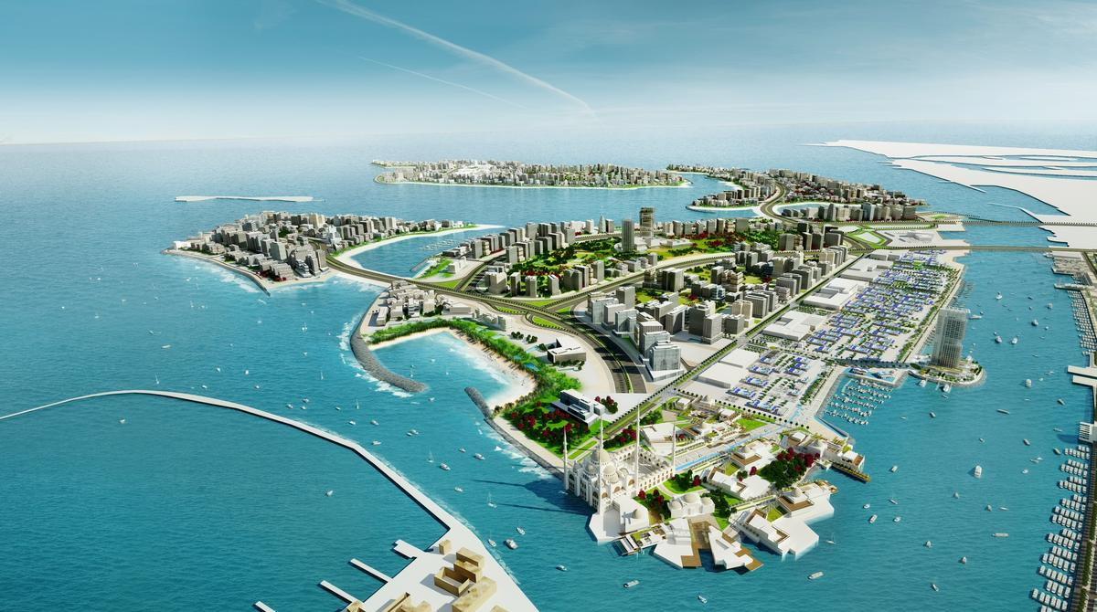 Waterpark and hotel planned as part of Deira Islands beach resort in Dubai