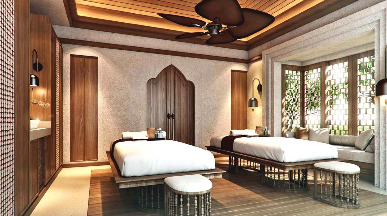 Spa facilities include eight treatment suites – including double suites for couples