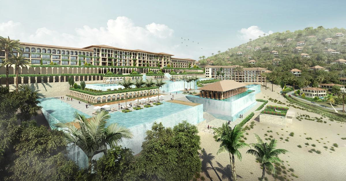 The architecture is inspired by the local history of Mui Dinh, particularly that of the Cham tribal culture / Chapman Taylor