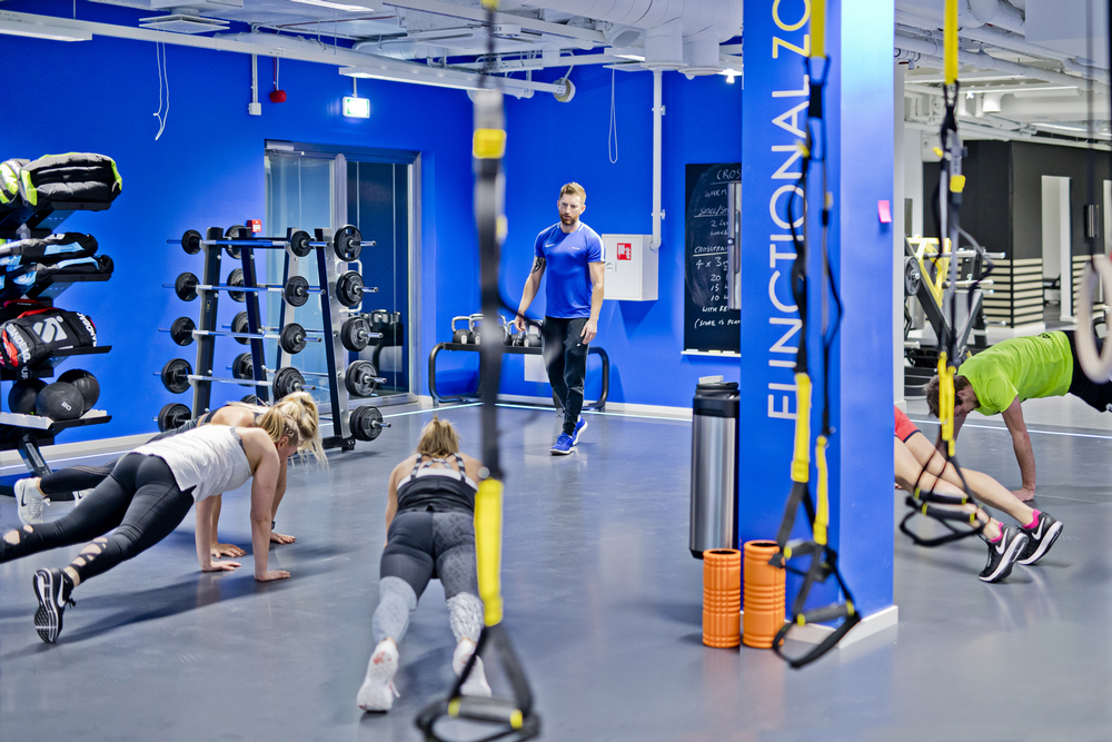 Training sessions in progress at MyFitness Ravala in Tallinn, the birthplace of the business