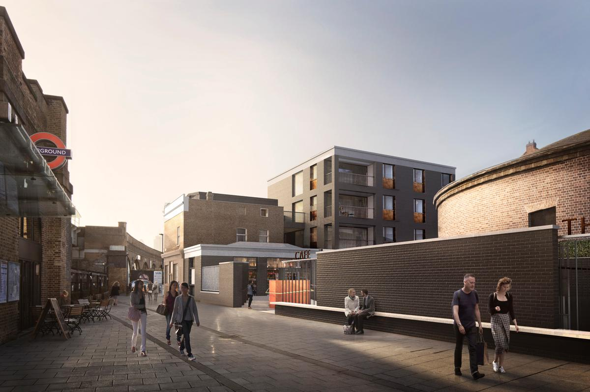 Easier access to Hoxton Station is a key part of the redevelopment  / Wright & Wright Architects