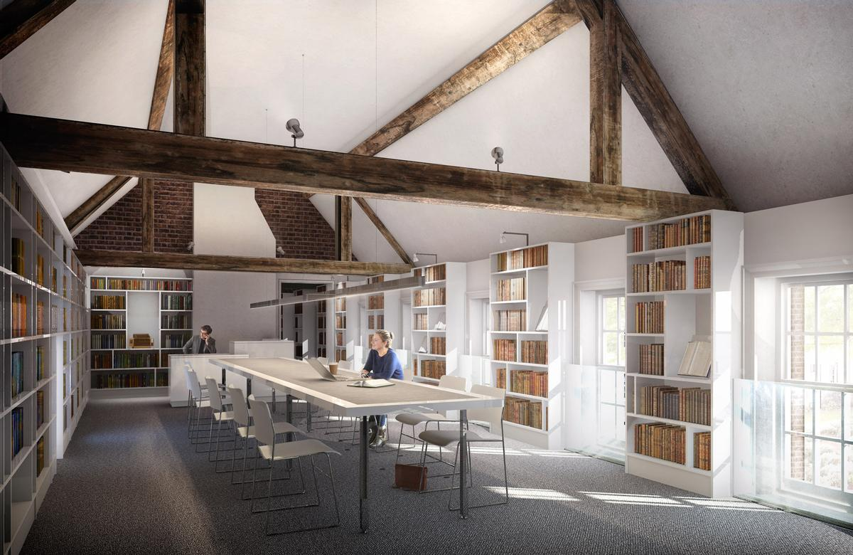 New spaces are being created for the Geffrye library  / Wright & Wright Architects