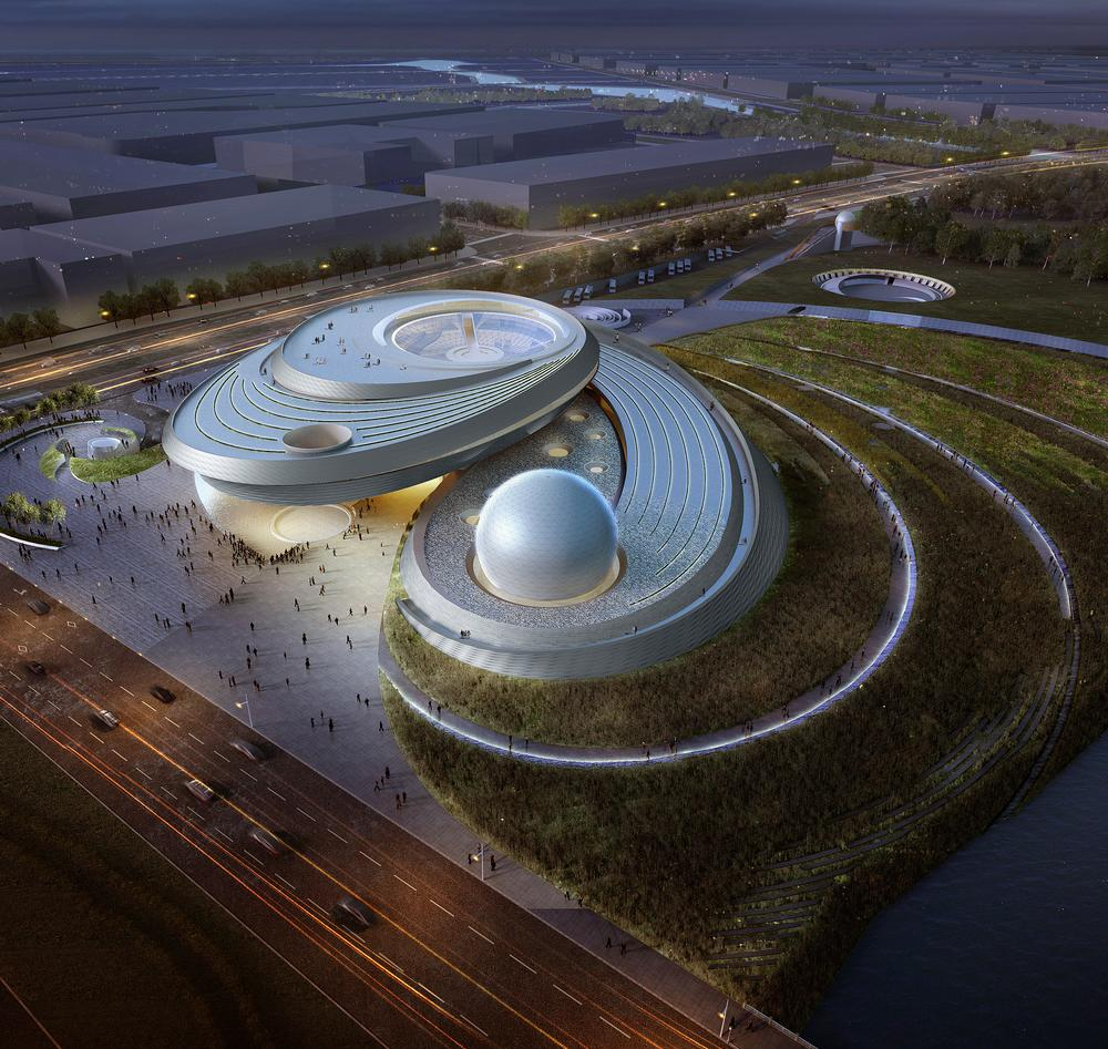 The design of the 38,000sq m Shanghai Planetarium was inspired by astronomical principles and is based around three key features: the oculus, the inverted dome and the sphere / ALL PLANETARIUM IMAGES: ©ENNEAD ARCHITECTS